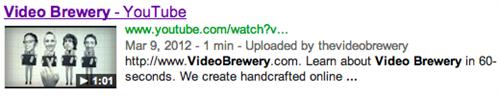 google video snippet